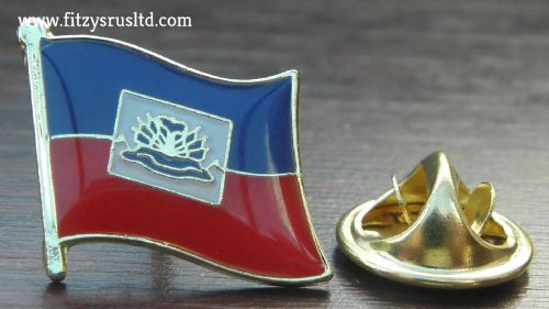 Haiti Country Flag Lapel Hat Cap Tie Pin Badge Rpublique d'Hati Repiblik Ayiti